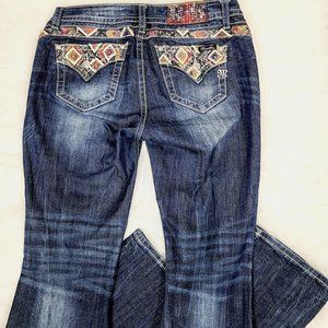 Miss Me Relaxed Boot Embellished Pocket Jeans